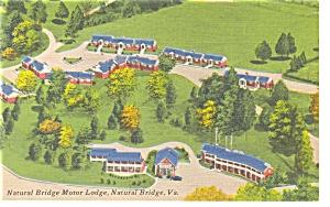 Natural Bridge VA Natural Bridge Motel Linen Postcard p7220 (Image1)