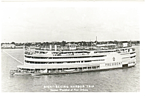 Steam Boat President at New Orleans Photo Postcard p7268 (Image1)