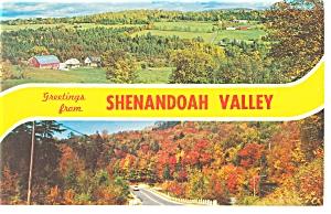 Shenandoah Valley Virgina Multi View  Postcard p7360 (Image1)