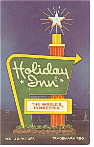 Roanoke Va Holiday Inn Downtown Sign Postcard P7398