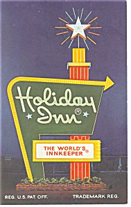 Richmond, VA, Holiday Inn No.1 & No.2 Sign  Postcard (Image1)