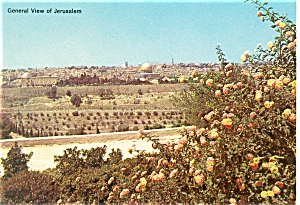 General View of Jerusalem Israel Postcard p7410 (Image1)