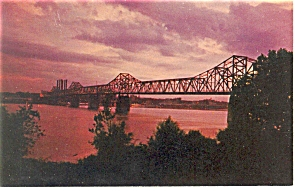 Louisville Ky George Rodgers Clark Bridge Postcard P7417