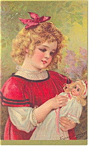 Blonde Girl, Blonde Dolly Postcard P7439
