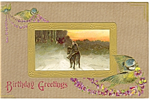 Antique Birthday Greetings Postcard (Image1)