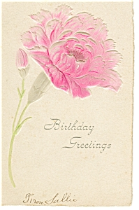 Birthday Postcard p7511 Undivided Back (Image1)
