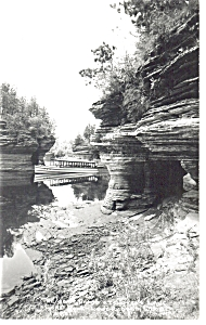 Lovers Lane Lower Wisconsin Dells Real Photo Postcard P7532
