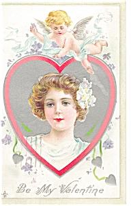 Be My Valentine Postcard p7538 (Image1)