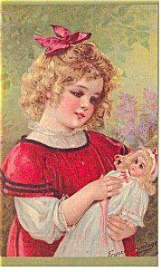 Blonde Girl, Blonde Dolly Postcard P7543