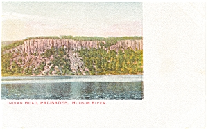 Indian Head Palisades Hudson River New York Postcard p7553 (Image1)