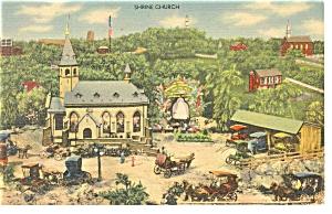Hamburg PA Roadside America Shrine Church Postcard p7574 (Image1)