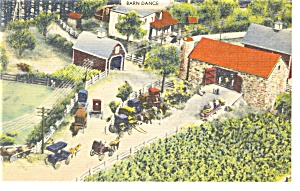 Hamburg PA Roadside America Barn Dance Postcard p7575 (Image1)