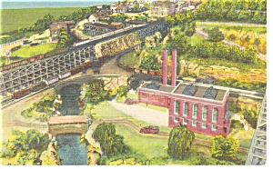 Hamburg PA Roadside America Power Station Postcard p7579 (Image1)