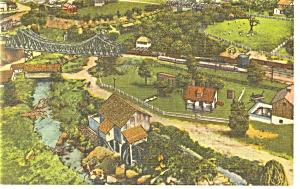 Hamburg,PA, Roadside America, Cantilever Bridge Pcard (Image1)