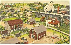 Hamburg,PA, Roadside America, Farm House Postcard (Image1)