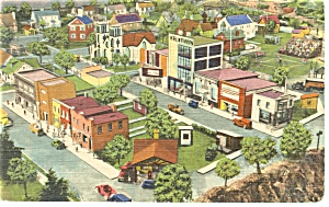 Hamburg,PA, Roadside America, School House Postcard (Image1)