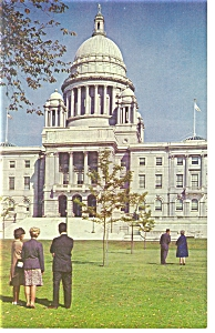 Rhode Island State Capitol Postcard p7605 (Image1)