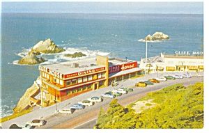 San Francisco, CA, The Cliff House Postcard Old Cars (Image1)