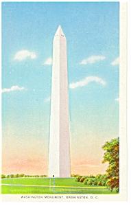 Washington DC The Washington Monument Postcard p7646 (Image1)