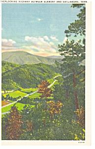 Gatlinburg TN Highway Scene Postcard p7674 (Image1)