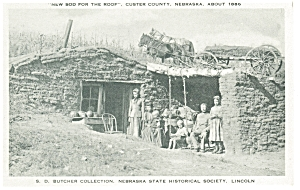 Custer County, NE, Sod Home Postcard (Image1)