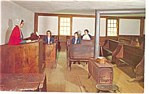 Old Sturbridge Village MA Candia Schoolhouse Postcard p7702 (Image1)