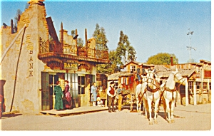 Knotts Berry Farm, CA, Miners Bank Postcard p7721 (Image1)