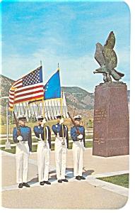 US Air Force Academy Color Guard Postcard p7725 (Image1)