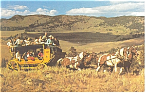 Stagecoach at Yellowstone National Park WY Postcard p7784 (Image1)