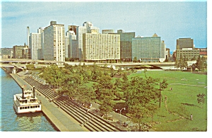 Pittsburgh PA Gateway Center and  Gateway Clipper Postcard p7786 (Image1)