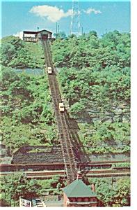 Pittsburgh PA Mt Washington Incline Postcard p7787 (Image1)