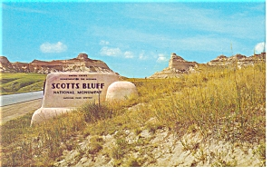 Entrance Scotts Bluff National Monument ,NE, Postcard (Image1)