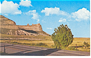Saddle Rock, Scotts Bluff National Monument ,NE, Pcard (Image1)