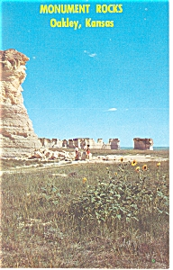 Monument Rocks Near Oakley ,KS, Postcard (Image1)