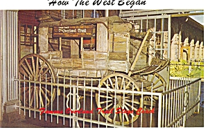 1866 Stage Coach Postcard