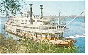 Mississippi River Sternwheeler  Postcard p7835 (Image1)