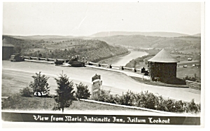 View From Marie Antoinette Inn Real Photo Postcard