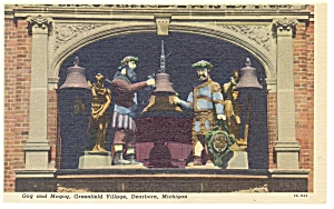 Dearborn MI Greenfield Gog and Magog Linen Postcard p7889 (Image1)