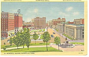 Nashville TN Memorial Square Linen Postcard p7674 (Image1)
