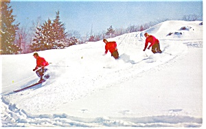Skiing In New England Postcard