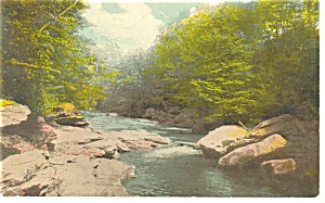 Rocky Stream In Pa Postcard 1917