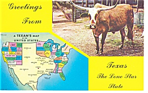 State Map of Texas Postcard (Image1)