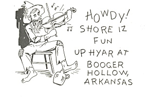 Booger Hollow,AR Fiddle Player Postcard (Image1)