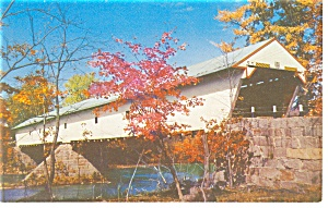 Covered Bridge On Saco River Postcard P7981