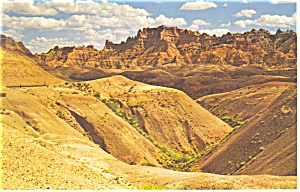 South Dakota The Badlands Postcard p8050 (Image1)