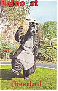 Baloo The Bear at Disneyland Postcard p8057 (Image1)