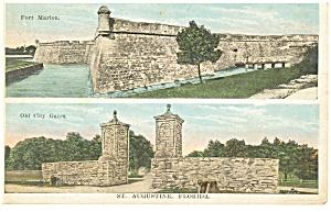 St Augustine F, Fort Marion Postcard p8084 (Image1)