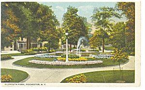 Rochester NY Plymouth Park Postcard p8115 1922 (Image1)