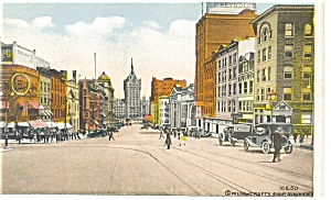 Albany NY State Street From Pearl Postcard p8122 (Image1)