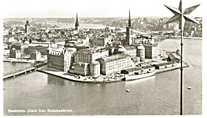 Stockholm,Sweden Harbor View Real Photo Postcard (Image1)